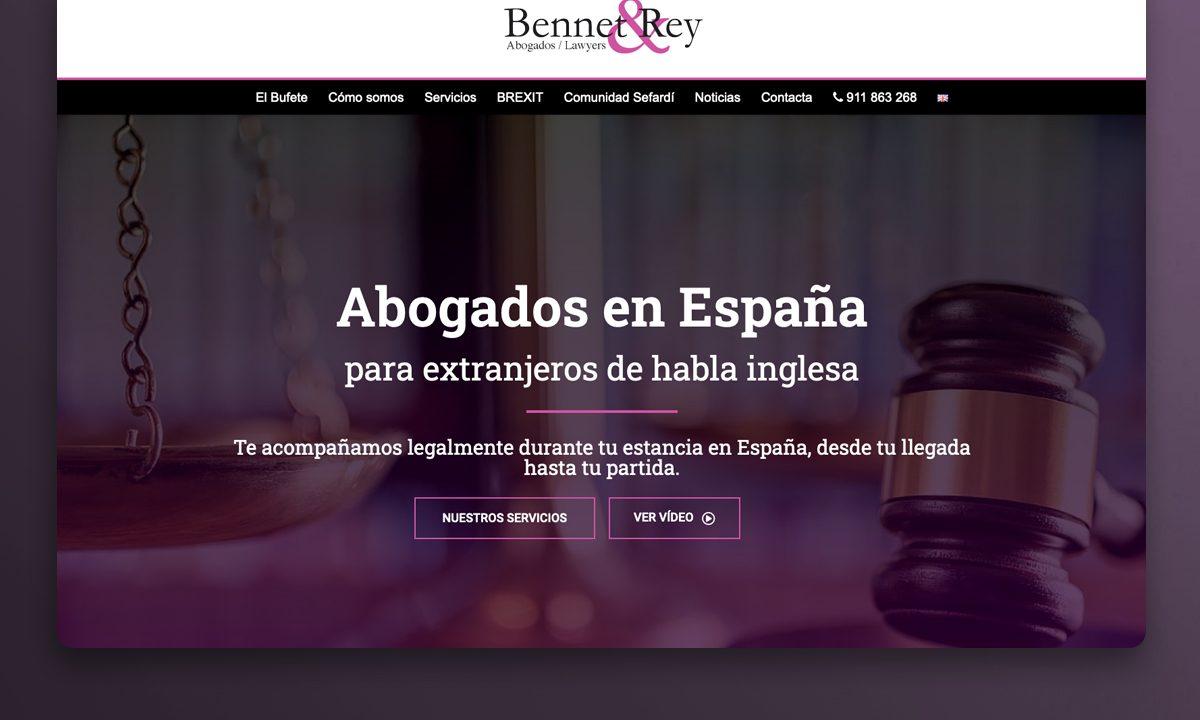 Bennet & Rey · Diseño web para despacho de abogados