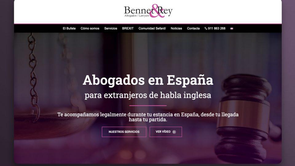 diseño web para despacho de abogados en Madrid